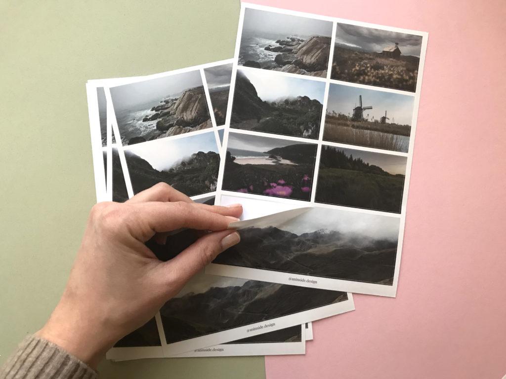 Печать наборов наклеек фото 10